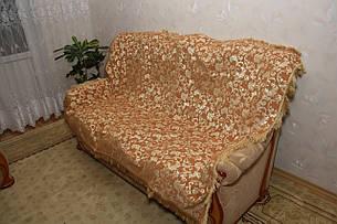 Лаура песочного цвета комплект покрывала (дивандеки) на диван и кресла, фото 2