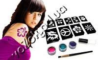 Набор для временного глиттер-тату блестящие татуировки Shimmer Glitter Tattoos