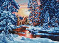 """Набор для вышивания гобелена """"Luca-S"""" G477 Зимний пейзаж"""