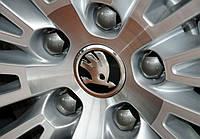 Заглушки колпачки литых дисков Skoda новый тип