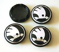 Заглушки колпачки литых дисков Skoda 65mm новый тип