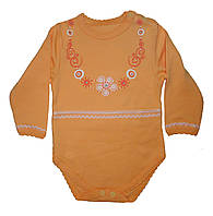 Боди для девочки «Бусики» (цвет оранжевый), рост 74 см