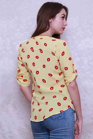 Женская стильная элегантная рубашка из штапеля р. 42-48, фото 2