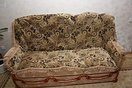 """""""Круги"""" покрывала в комплекте для дивана и двух кресел"""