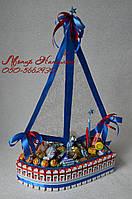 Корабль из Киндер шоколадок