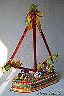 Корабль из Киндер шоколадок Люкс