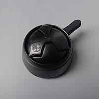 Калауд лотос для кальяна Black глянцевый (с чёрной ручкой) в упаковке