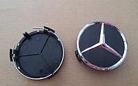 Заглушки колпачки литых дисков Mercedes 75мм чёрные