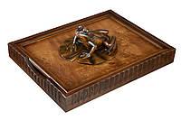 Деревянный лоток для документов Жабка