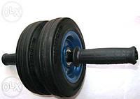 Ролик колесо для пресса похудения двойное металический на потшибниках