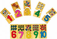 Деревянная игрушка МДИ Домино-цифры (Д012)