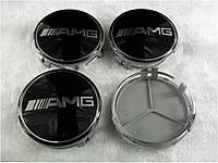 Заглушки колпачки литых дисков Mercedes AMG чёрный
