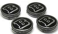 Заглушки колпачки литых дисков Mercedes Brabus чёрный