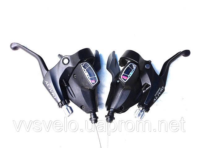 Комплект торм ручек/ манеток ST-M410 -S Alivio, левая+правая 3Х8-зв,бронзовый цвет