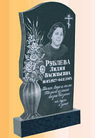 Памятник гранитный одинарный с цветами