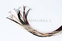 Аксессуары для волос; Пряди из искусственных волос на тропиканке, 12 упковок по 12 штук (144 штуки)