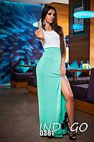 """Платье женское длинное с вырезом """"Кристалл"""""""