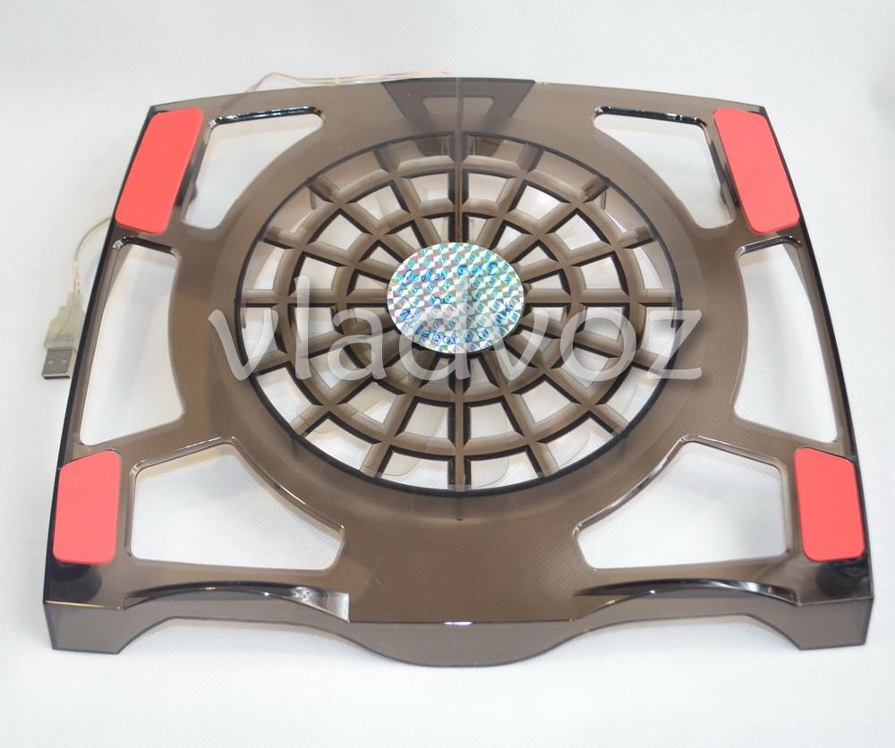 Подставка для ноутбука с охлаждением и led подсветкой чёрная YL-608