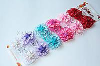 Детские заколки Rose; Тик-так (кли клак), 12 штук на ленте