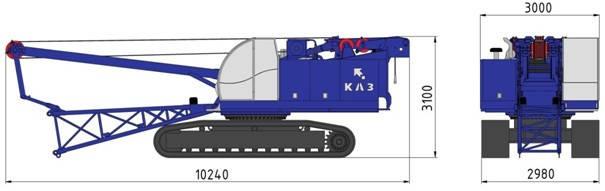 Гусеничный кран RDK-40Э, фото 2