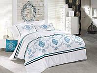 Комплект постельного белья vip сатин first choice евро размер rivet mavi