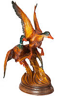 Эксклюзивная деревянная статуэтка Утки ручной работы