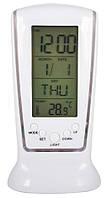 Светодиодные цифровые электронные часы, будильник, с календарем, с подсветкой, с термометром