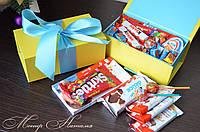 Коробка с Киндер шоколадками. Подарок