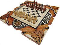Эксклюзивные Нарды-шахматы-шашки,3 игры,ручная работа