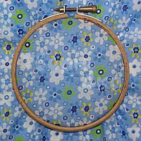 Ткань для пэчворка, кукл тильда голубая в цветочек