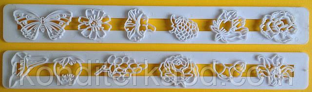 Пэчворк (штампы декоративные) Цветы, Ягоды, Бабочки