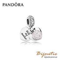 Pandora  Шарм-подвеска РОЗА ДЛЯ ЛЮБИМОЙ МАМЫ №791528EN40 серебро 925 Пандора оригинал
