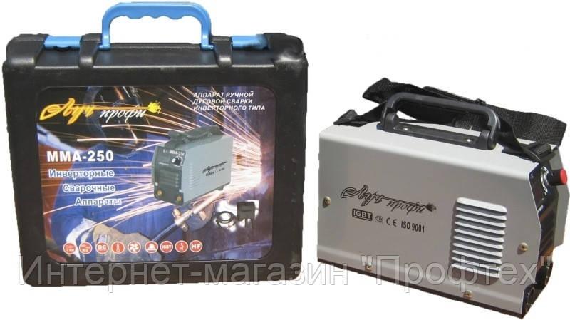 Инвертор сварочный Луч Профи ММА 250 mini c дисплеем в пластиковом кейсе