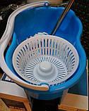 Швабра полотер + ведро с центрифугой и педалью (автоматический отжим),Tarrington House , фото 2