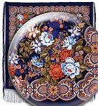 Белые розы 373-14, павлопосадский платок (шаль) из уплотненной шерсти с шелковой вязанной бахромой, фото 2