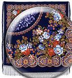 Белые розы 373-14, павлопосадский платок (шаль) из уплотненной шерсти с шелковой вязанной бахромой, фото 3