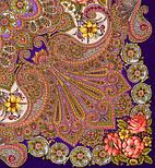 Василиса 1370-14, павлопосадский платок (шаль) из уплотненной шерсти с шелковой вязанной бахромой, фото 2