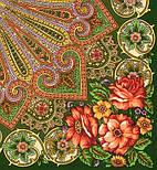 Василиса 1370-30, павлопосадский платок (шаль) из уплотненной шерсти с шелковой вязанной бахромой, фото 3