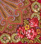 Василиса 1370-5, павлопосадский платок (шаль) из уплотненной шерсти с шелковой вязаной бахромой, фото 3