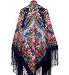 Воспоминания о лете 563-14, павлопосадский платок (шаль) из уплотненной шерсти с шелковой вязанной бахромой, фото 2
