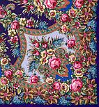 Воспоминания о лете 563-14, павлопосадский платок (шаль) из уплотненной шерсти с шелковой вязанной бахромой, фото 6
