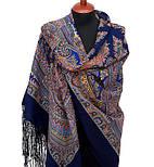 Волшебный узор 1290-14, павлопосадский платок (шаль) из уплотненной шерсти с шелковой вязанной бахромой, фото 3