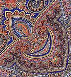 Волшебный узор 1290-14, павлопосадский платок (шаль) из уплотненной шерсти с шелковой вязанной бахромой, фото 4