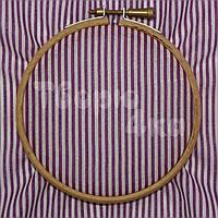 Ткань для пэчворка, кукл тильда сиреневая в полосочку