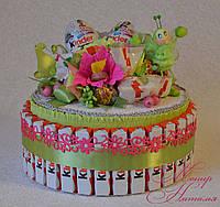 Торт из Киндер шоколада. Оригинальный подарок девочке, фото 1
