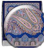 Східна казка 1175-13, павлопосадский хустку (шаль) з ущільненої вовни з шовковою бахромою в'язаної, фото 4