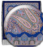 Восточная сказка 1175-13, павлопосадский платок (шаль) из уплотненной шерсти с шелковой вязанной бахромой, фото 4