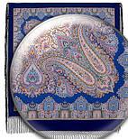 Восточная сказка 1175-13, павлопосадский платок (шаль) из уплотненной шерсти с шелковой вязанной бахромой, фото 5