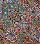 Губернаторский  1504-13, павлопосадский платок (шаль) из уплотненной шерсти с шелковой вязанной бахромой, фото 2