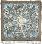 В вихре танца 1567-16, павлопосадский платок шерстяной  с шелковой бахромой, фото 5